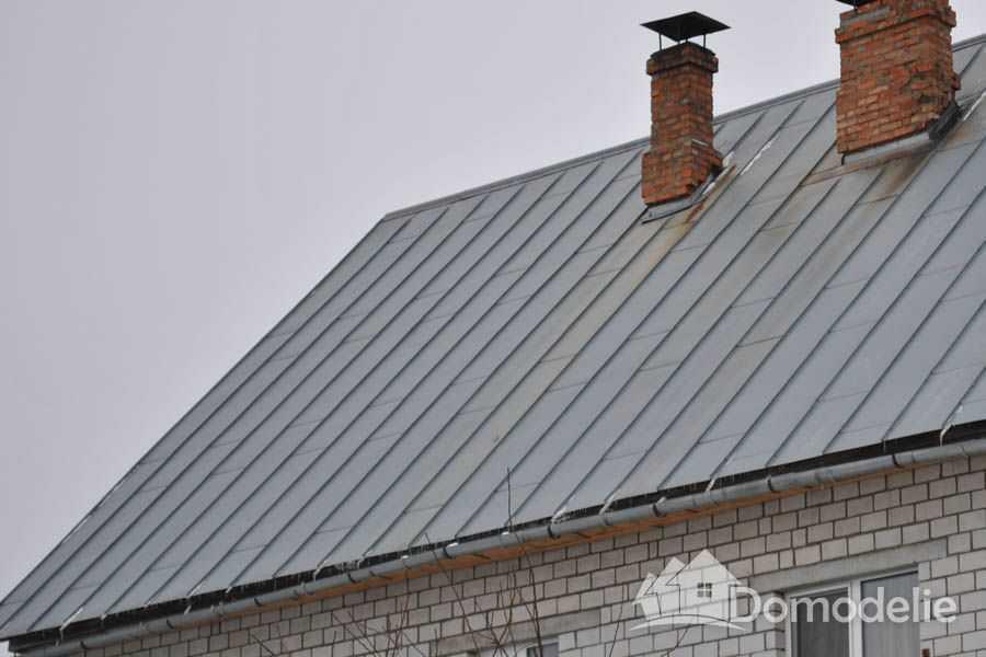 фальцевая крыша из оцинкованного металла