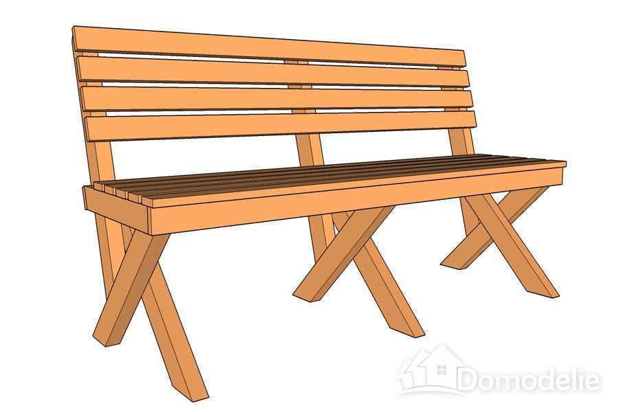 Деревянная скамейка со спинкой своими руками фото 103