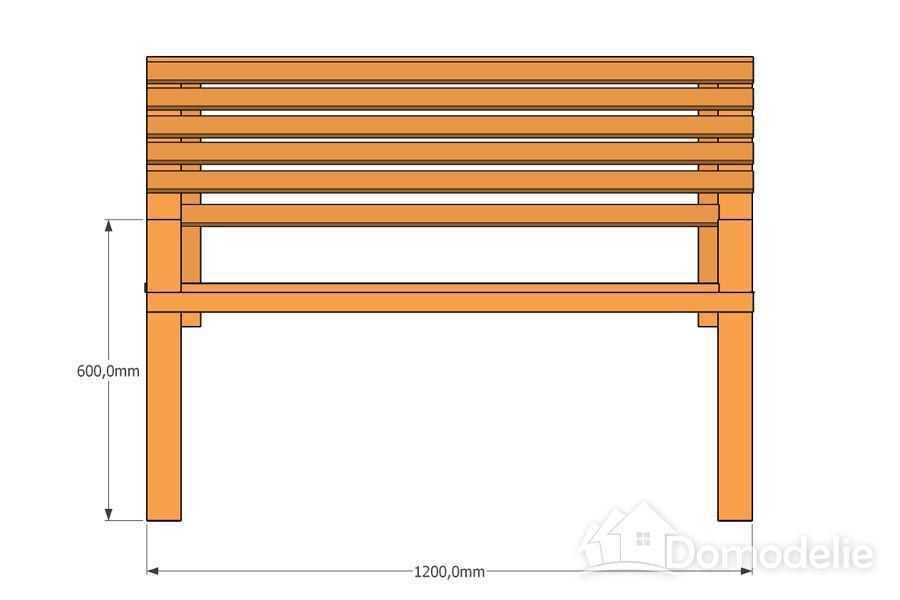 чертеж скамейки для дачи