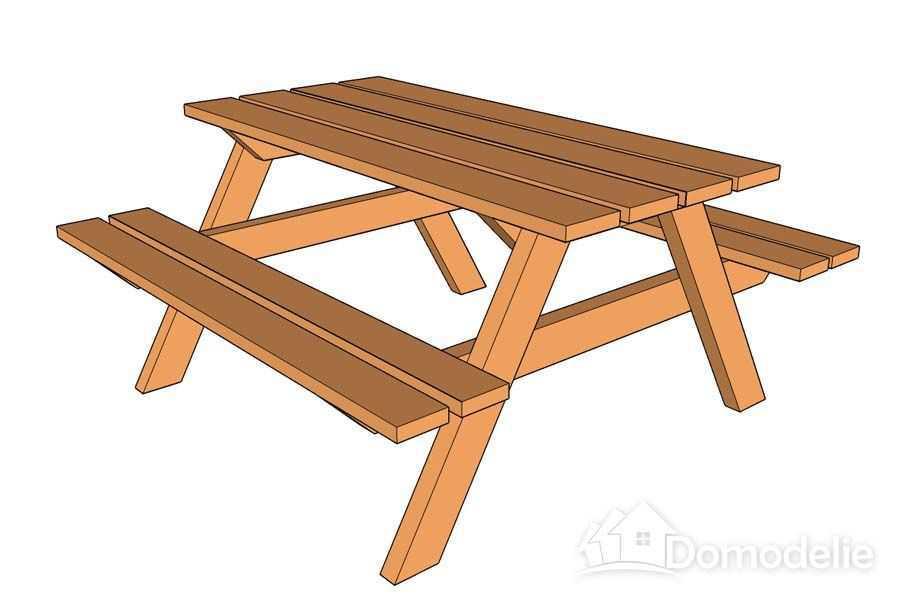 Чертеж стола для дачи