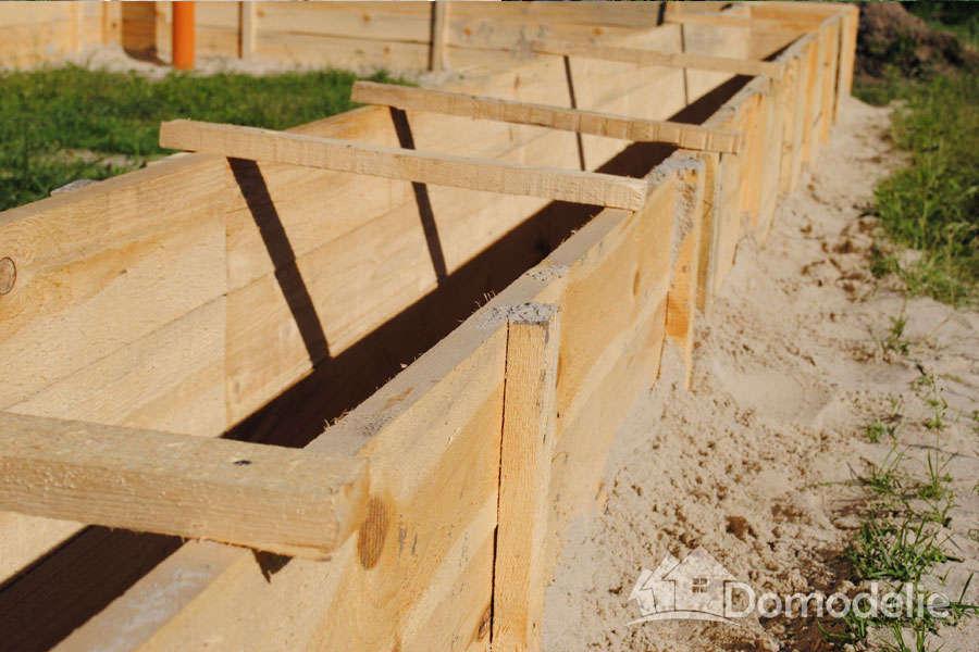 установка деревянных хомутов