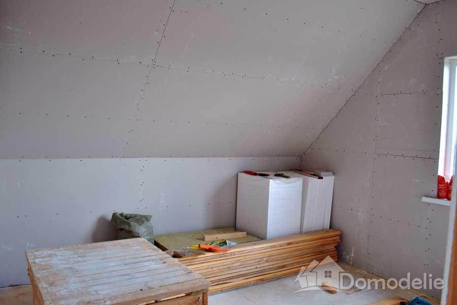 отделка гипсокартоном в каркасном доме