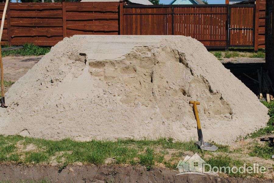 подушка для фундамента из песка