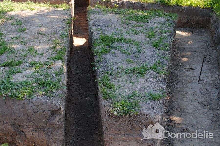 глубина траншеи под фундамент для прокладки канализации