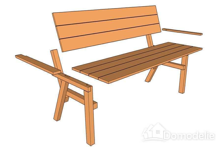 Дача скамейки и столы своими руками чертежи 269