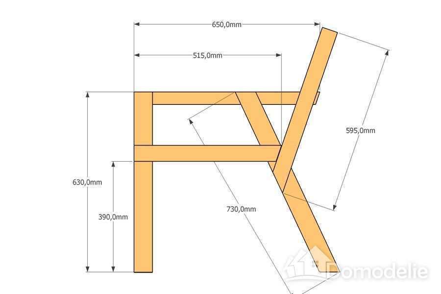 Простой чертеж скамейки со спинкой из дерева своими руками чертежи