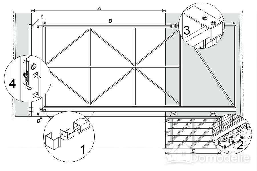 Ворота своими руками чертежи схемы эскизы конструкция фото 116